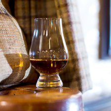A glass of malt whisky